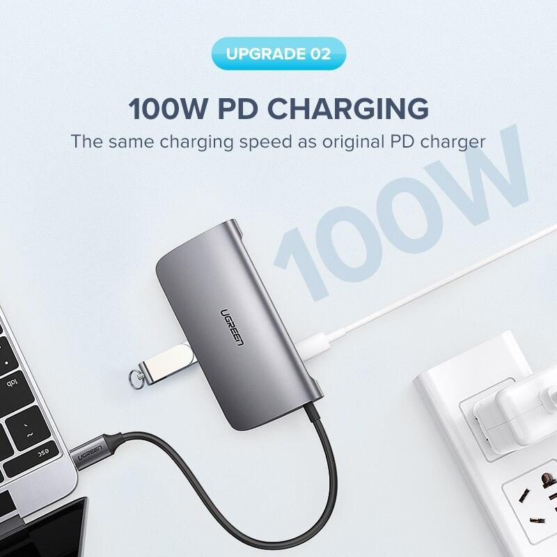 Ugreen HUB USB C HUB vers Multi USB 3.0 adaptateur HDMI Dock pour MacBook Pro accessoires USB-C Type C 3.1 séparateur 3 ports USB C HUB - 3