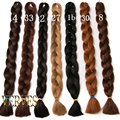 Kanekalon Braiding Hair 42inch synthetic 165g/pcs Kanekalon Jumbo Braid Bulk Kanekalon African Braiding Hair style Crochet Hair
