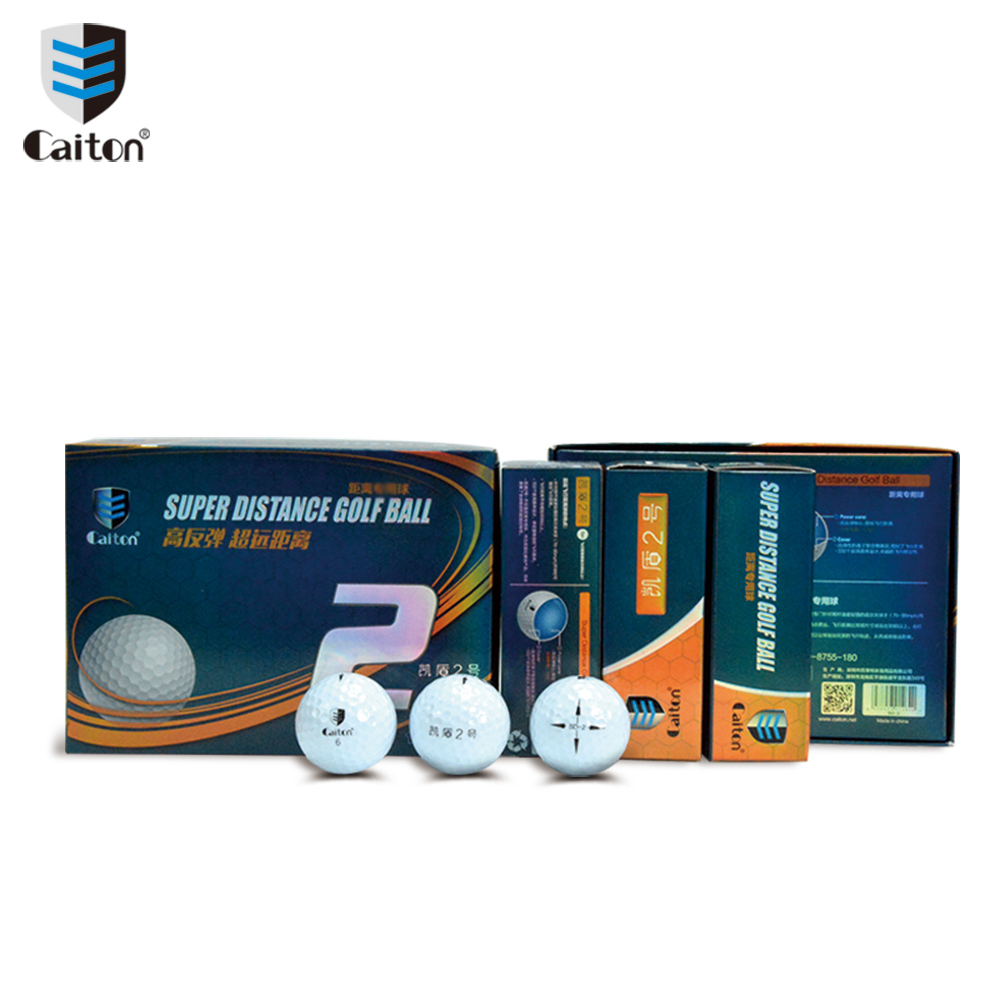 Caiton New Golf Balls Long distance Two-level High rebound Game golf ballS caiton 12pcs pack three four five layer golf balls golf standard game balls