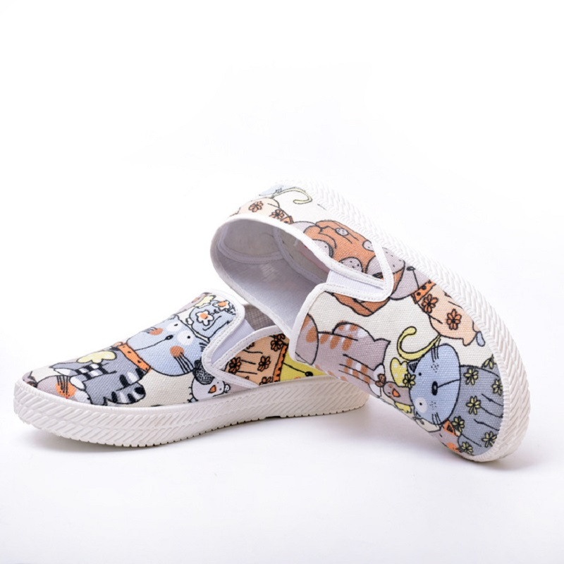 Spring/Autumn Women Casual shoes Soft Comfortable Flat shoe Walking Loafers Espadrille Canvas Women Casual Shoes Animation Y234 2017 spring and autumn hot selling women s comfortable diabetic shoes foot swollen foot care shoe breathable flat bunion shoes