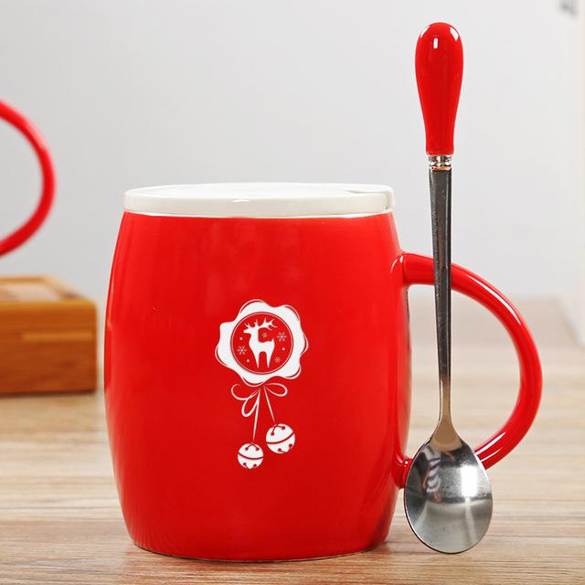 Smteapot Creative Red 3D Animal Ceramic Mug 400ml Cartoon Couple Coffee Milk Tea Cup New Christmas Gift Favors Water Cups