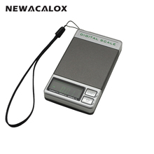 NEWACALOX Electronic Balance Precision Scales For Gold Sterling Silver Jewelry Weighing Pocket Scale 500g 0.1g