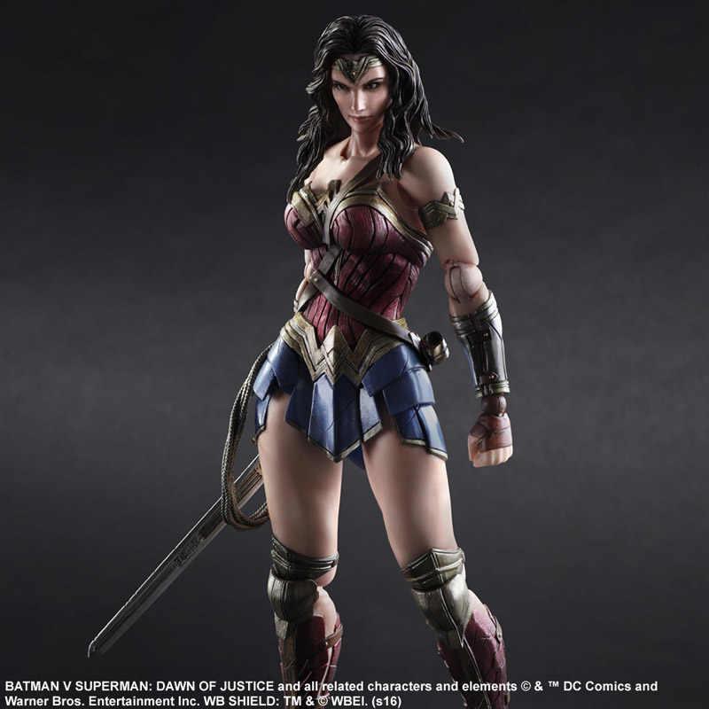 تلعب الفنون pa kai batman v سوبرمان فجر العدالة أتساءل امرأة العدل نسخة العمل pvc الشكل تمثال لعبة 27 سنتيمتر الفصل