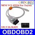 Top Realter V10.30.029 MINI VCI Interfaz de Diagnóstico OBD Comunicación MINI-VCI J2534 TIS Techstream 3 años de Garantía Estándar