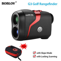 BOBLOV Golf Laser Distance Meter Laser Range finder 6X hunting Scope RangeFinder Distance Flag locking Speed Meter