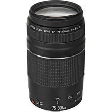 Canonเลนส์EF 75-300มิลลิเมตรF/4-5.6 III Telephotoเลนส์สำหรับCanon 1300D 600D 700D 60D 70D 7D T6 T3i T5i