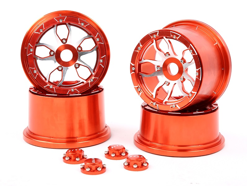 2015 Baja 5B CNC metal wheel with  new CNC seal chocks for baja 5b ss HPI Km Rovan free shipping cnc metal front elevation shield for1 5 hpi baja 5b km rovan