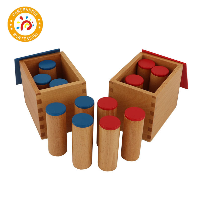 Baby Toy Montessori Material Sound Boxes Exercise Listening Early Education Learning