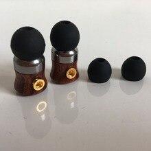 10mm 이어 쉘 플러그 가능 mmcx 핀 나무 껍질