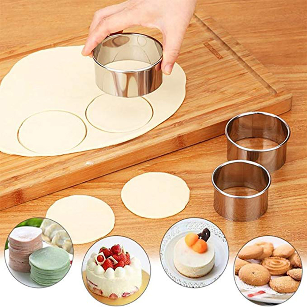 Cake Decorating Tools  3P stainless steel dumpling mold round biscuit product selling point: Baking Tools For Cakes Cocina Molds