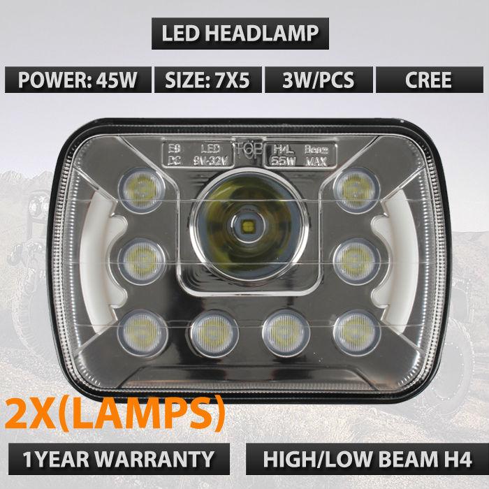 2шт. 7х5 LED светодиодные герметичные фар прозрачный для Chevrolet C2500 K2500