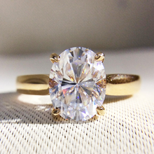 Gorgeous 1.2 Carat ct DF Color Lab Grown Oval Moissanite Diamond Ring Solitaire Engagement Wedding 9K Yellow Gold