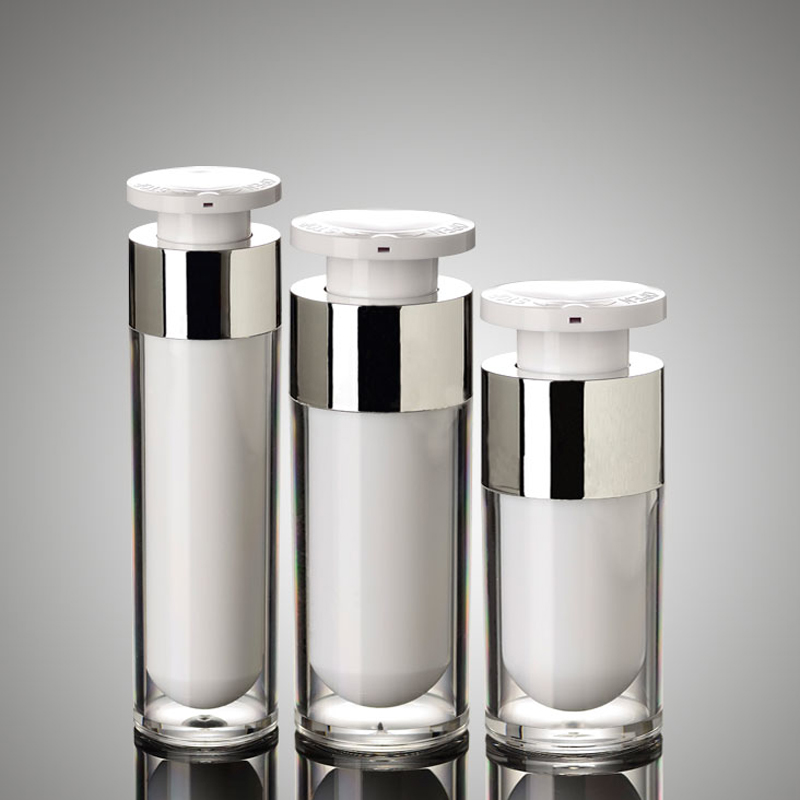 15ML 30ML 50ML Press Pump Acrylic Airless Bottles Skin Care Liquid Lotion Cream Plastic Cosmetic Containers Packaging 10pcs/lot