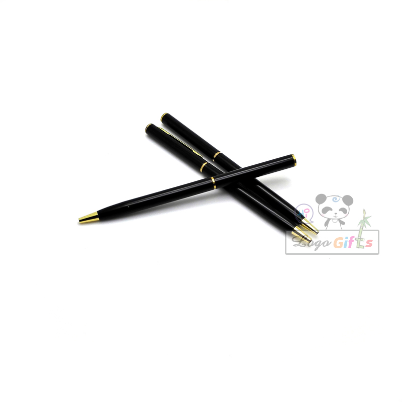 NEW retirement gifts 10g luxury gold and black color metal pen wholesale company enent gifts and awards in Banner Pens from Office School Supplies