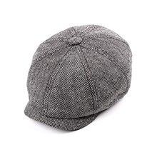 Новинка, кепка Newsboy, берет, шапка для мужчин и женщин, твид, Гэтсби, восьмиугольная, черная, белая, в елочку, винтажные шапки плюща