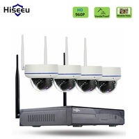 4CH 960P HD Wireless CCTV System Dome WIFI NVR IP Camera IR CUT CCTV Camera Security