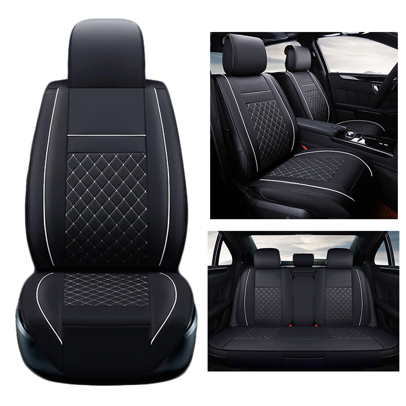 BLUE WOVEN FABRIC DODGE CALIBER  FRONT /& REAR CAR SEAT COVER SET