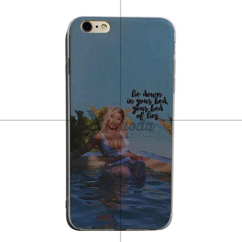 Yinuoda Cardi B Nicki Minaj Sang Trọng Chất Lượng trong suốt mềm Trường Hợp Điện Thoại Đối Với iPhone X XS XR XsMax 8 cộng với 6 6 s 7 7 cộng với Mobilecover