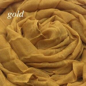 Image 4 - ขายร้อน crinkled ยืดหยุ่นผู้หญิงผ้าพันคอ/ผ้าพันคอนูนตารางผ้าคลุมไหล่นุ่มเหนียวมุสลิม hijabs wraps 10 ชิ้น/ล็อต FAST การจัดส่ง