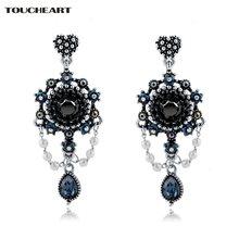 Toucheart синие кристаллы античная бронза ювелирные изделия