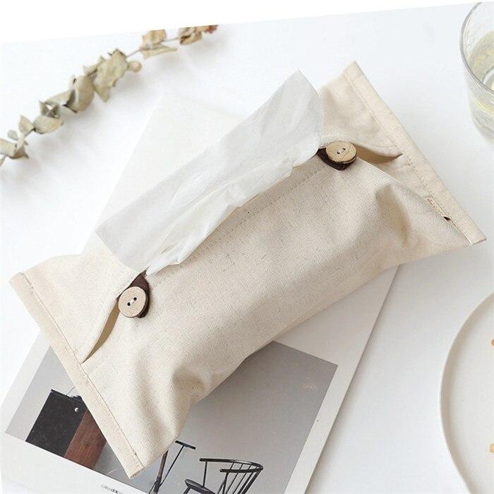 Твердые Цвет с одноразовыми салфетками хлопковое Льняное полотенце Бумага s сумка для хранения Органайзер для хранения автомобиля унитаз бумажные салфетки, носовые платки Обложка Настольный Декор - Цвет: C