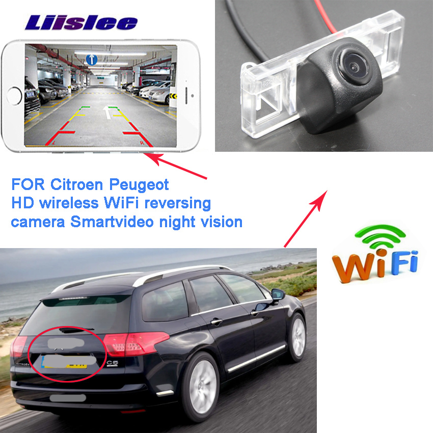 LiisLee For Citroen C2 C3 C4 C5 C6 C8 ZX DS5 DS 5 New Arrival! Car wireless backup Reverse camera waterproof Full HD