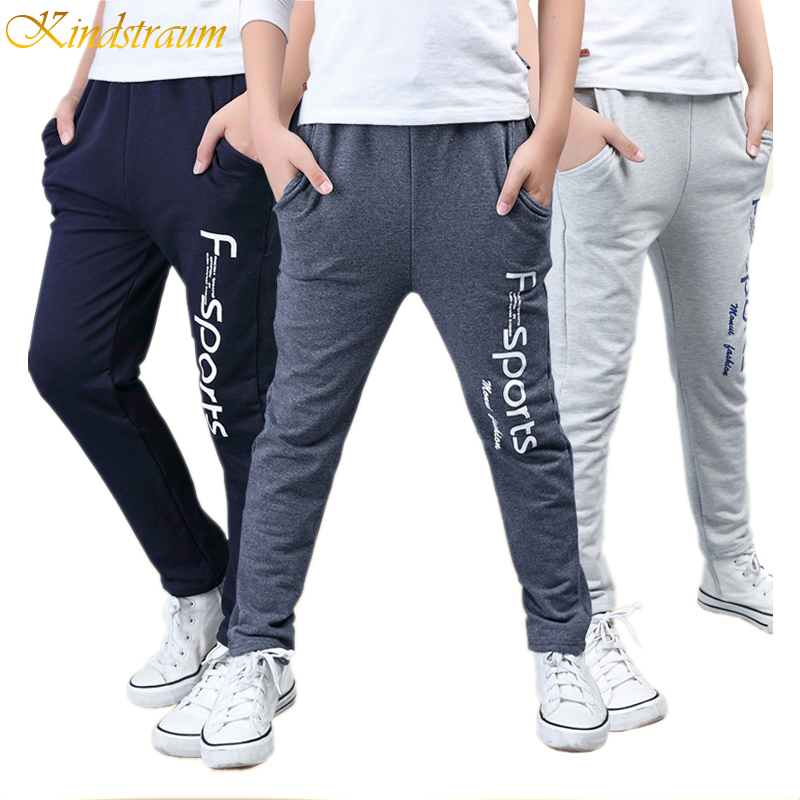 Kindstraum 2017 New Boys Cotton Sports Pants Top Quality Kids Casual Print Straight Trousers Fashion Elastic
