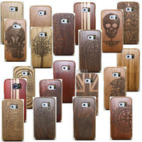 Healty Wood Bamboo Wooden Multi-Pattern Coque Fundas Cover Case For Samsung Galaxy S8 S7 S6 Edge PLUS S5 Neo Note 5 4 S4 MINI