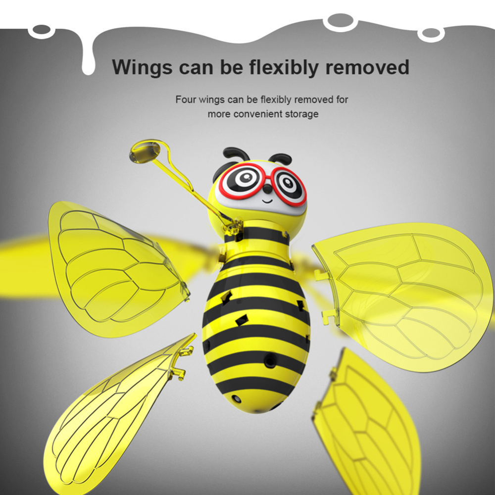 New Arrival Electric Flying RC Sensor Bee Infrared Induction Mini Aircraft LED Light Fun Toys For Kids Dropshiping