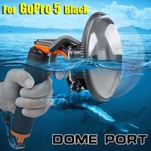 Portable Kuppel Port Hand tauchen Abdeckung für GoPro Hero 5/Hero 6 Schwarz Tauchen Kamera fall Für gopro 6/5 Hero schwarz
