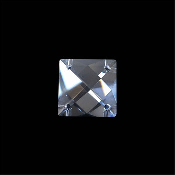 22mm Crystal Square Beads In 4 Holes For Home Decoration Accessories,Crystal Curtain Beads,Crystal Chandelier Bead