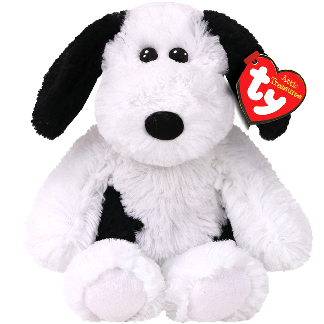 Pyoopeo Ty Attic Treasures 6 15cm Muggy Black White Dog Plush