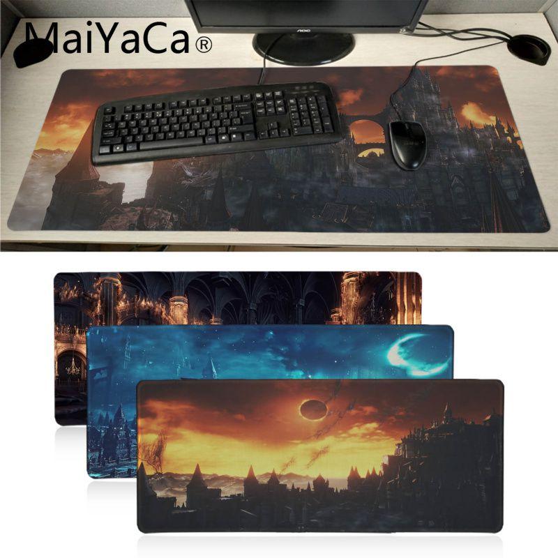 Maiyaca Your Own Mat Dark Souls Rubber Mouse Durable Desktop Mousepad Locking Edge Large Mouse Mat Gaming Desk Pad For Dota2 Lol