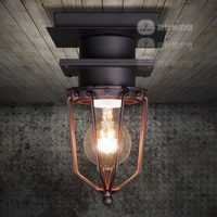 Lamp american vintage outdoor bathroom explosion-proof ceiling light