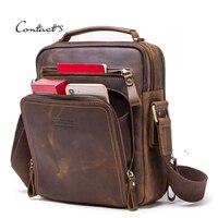 Мужская сумка-мессенджер из натуральной кожи портфель для делового человека кросс-боди роскошная сумка повседневная сумка-тоут Высокое ка...
