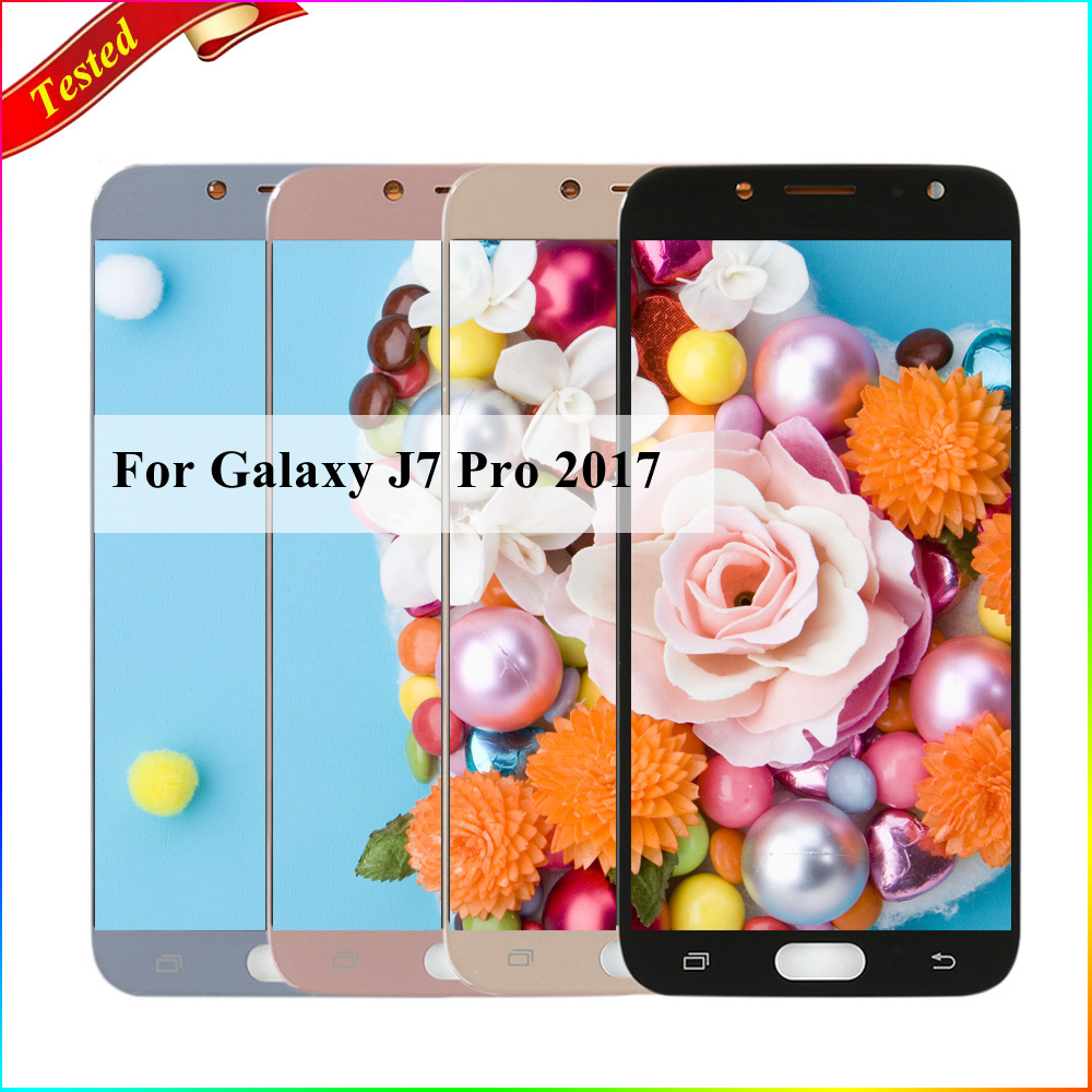 US $45 13 26% OFF AAA J730 lcd For Samsung Galaxy J7 pro 2017 J730 J730F  LCD Display Touch Screen Digitizer For J7 pro 2017 display J730 screen-in