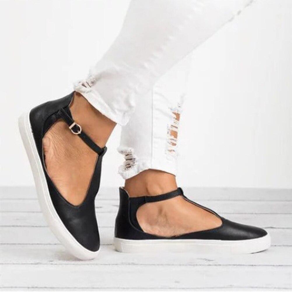 Correa De Zapatos Talón Mujer Plano Cuero oro Patchwork Del Negro Vintage Recortado Dedo gris Tobillo Pisos Pie marrón Señoras Redonda Hebilla 2018 6dwpqPx6