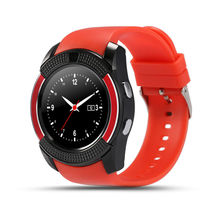 V8 kreis anzeige smart watch touchscreen smartwatches android handgelenk frau uhr sim-karte smart stunden fitness uhr