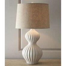 Simple Gourd Table Lamps White Elegant Bedroom Bedside Lamp Living Room  Study Clothing Decoration Lighting FG997