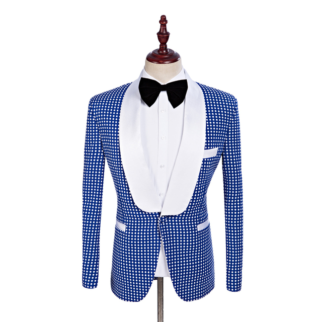 f325a20be0e31 Royal Blue Blazer With White Pants Green Cross Trainer Shoe High Top ...