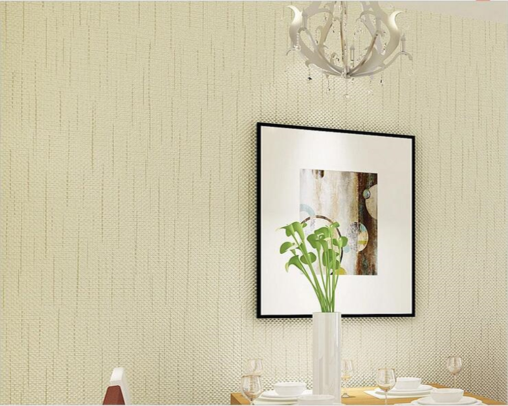 Beibehang Modern Simple Pure Color Wallpaper 3D Living Room Bedroom Background Decorated Yellow / White 3D Wallpaper behang цена