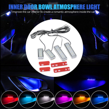 Atmosphere Lamp Light 6 color Decorative Inner Door Wrists Armrest Storage Trough Auto Ambient For Car Interior