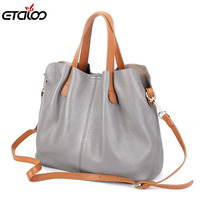 Women General Leather Handbags Tide Europe Fashion First Layer Of Cowhide Women Bag Hand Diagonal Cross