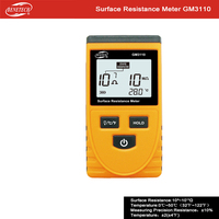 Surface Resistance Meter Handheld Earth Resistance Meter Lcd Display Ohm meter come with Ground wire
