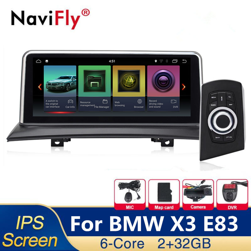 IPS Android 8.1 6 Core Car dvd radio multimedia player for BMW X3 E83 2004 2005 2006 2007 2008 2009 2010 GPS Navigation WIFI MAP