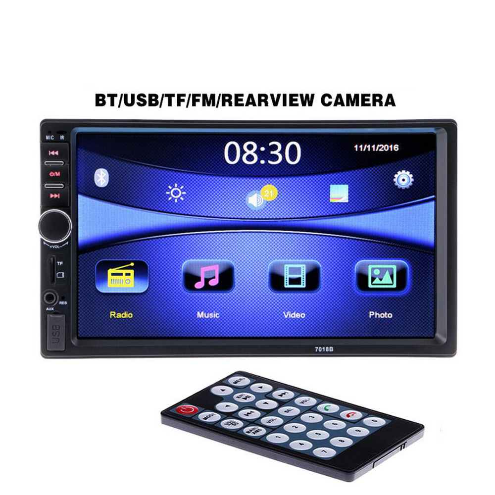 2 Din General Car Models 7'' inch LCD Touch Screen Car Radio MP5 Player Bluetooth Car Audio Support Rear View Camera image