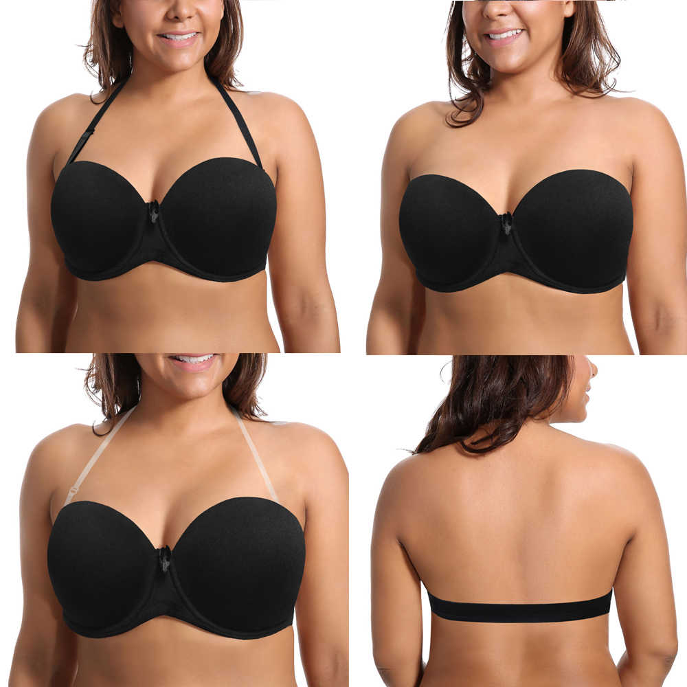 New Lady Push Up Plus Size Women Bra Sexy Lingerie Comfortable Underwear Underwire Padded A B C D E F Cup 70 75 80 85 90 95 Size