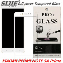 цена на full cover Tempered Glass For XIAOMI REDMI NOTE 5A Global Prime 5.5 inch 3GB 32GB 64GB Screen protective smartphone on toughened