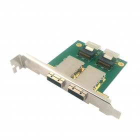 10pcs / lots 2 Ports PCI SAS Adapter,Internal MINI SAS 4I SFF-8087 to External MINI SAS 8088 PCI Card , Free shipping By Fedex