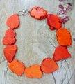 Envío de la Nueva Llegada De Moda Naranja Turquesa Slice Collar Gargantilla Collar Exagerado Joyería Turquesa de La Piedra